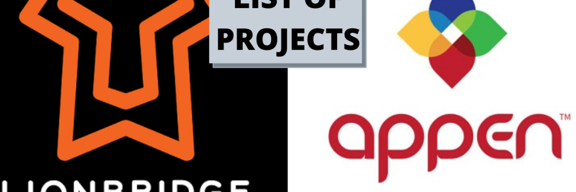 List of Projects Available on Appen And Lionbridge